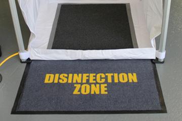 Disinfection zone matt in front of PORTAdec 500 shower