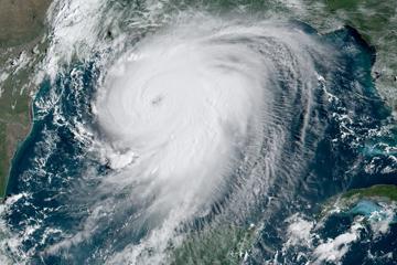 Image of Hurricane Laura taken by satellite