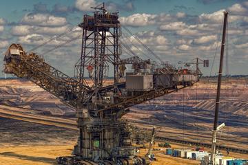 Large mining excavator