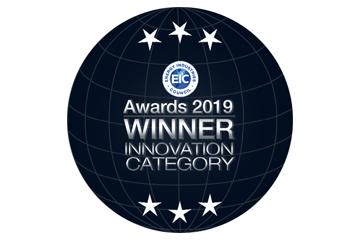 2019 EIC award winner badge in the Innovation category