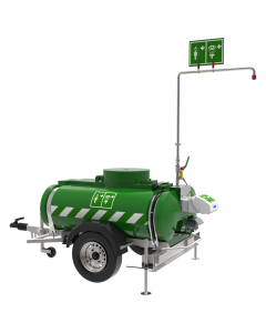 Mobile self-contained heated safety shower - 1200 litre