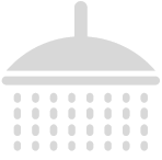 Trace tape heated floor mounted safety shower