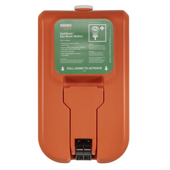 Wall mounted self-contained gravity fed eye wash - 38 litre