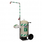 Mobile self-contained safety shower - 30 US gallon