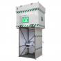 2000L tank fed safety shower - jacketed and insulated