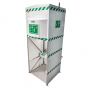 1500L tank fed safety shower - jacketed and insulated