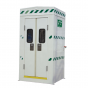 Polar safety shower within insulated cubicle