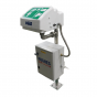 Heated pedestal mounted eye wash with ABS closed bowl